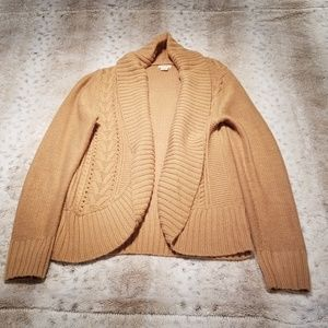 Mossimo Supply Co Tan Open Front Cardigan